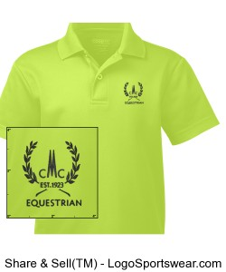 Youth Origin Performance Pique Polo Design Zoom