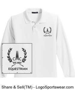 Kids Long Sleeved Polo Design Zoom
