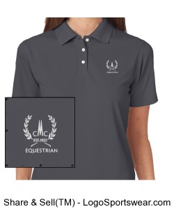 Ladies Cool and Dry Stain Release Polo Design Zoom