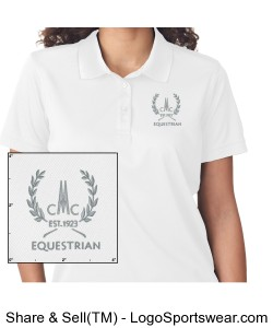 Ladies Cool and Dry Mesh Pique Polo Design Zoom